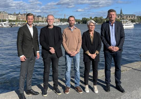 Gustaf Larsson Ernefelt, Nicklas Eriksson, Markus Larsson, Birgitta Eriksson och Peter Hjerpe.
