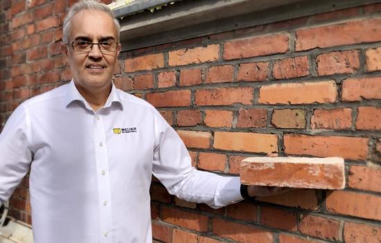 Ljupco Mitrovski, specialist på Fasad & Betong hos Beijer Byggmaterial.