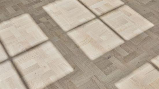 Det första golvet i sitt slag, där slitskiktet är helt och hållet baserat på återvunnen ek.