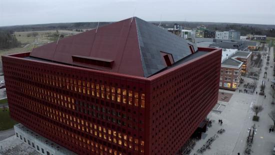 Färdigbyggda studenthuseti Linköping.