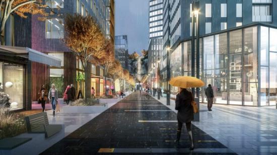 Swecos arkitekter har fått uppdraget att ta fram förslag på hur utemiljöerna i Karlastaden, Göteborg skulle kunna se ut.