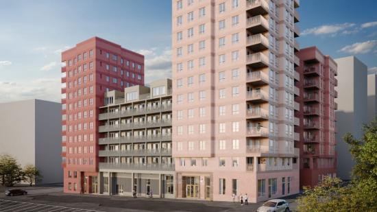Kvarteret Lysosomen i Hagastaden beräknas stå färdigt för inflyttning våren 2023 (bilden är en illustration).