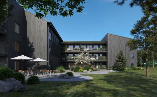 Äldreboendet Hasseludden ska byggas i Nacka, Stockholm (bilden är en illustration).