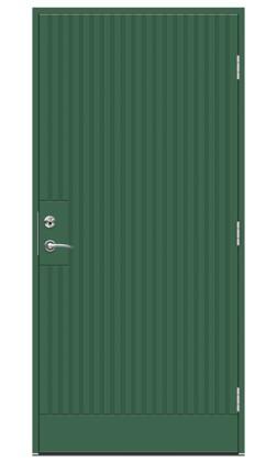 Dörren Atlantic ECOav SWEDOOR är en del av ett klimatvänligt koncept för ytterdörrar, som uppfyller byggreglerna för 2020.
