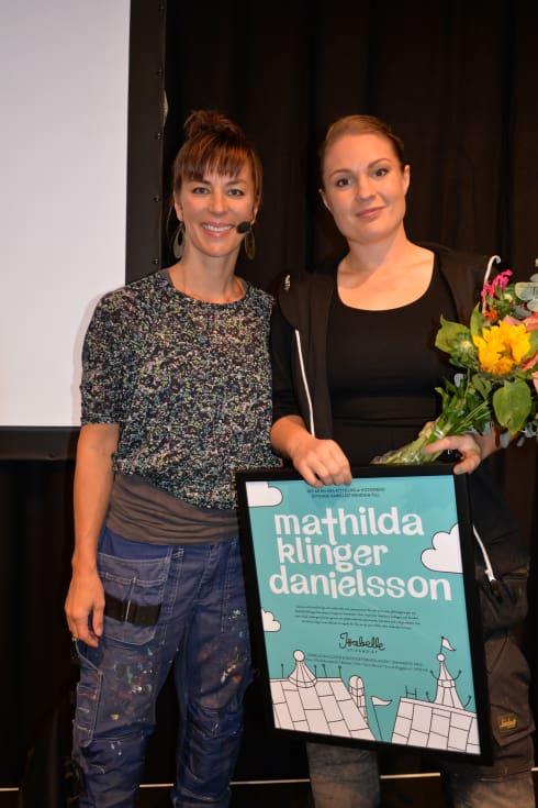 Isabelle McAllister, grundare av Isabellestipendiet tillsammans med Mathilda Klinger Danielsson.