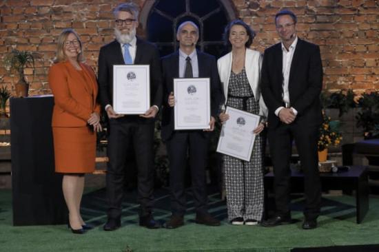 Från vänster: Åsa Söderström Winberg, Hans Pétursson, Raid Karoumi, Tara Woods, Niklas Sörensen.
