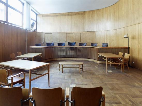 Asplundsalen, en av de restaurerade sessionssalarna.