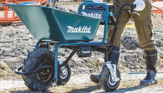 Fantastisk Makita lanserar 18V batteridriven skottkärra för enklare hantering IG-22