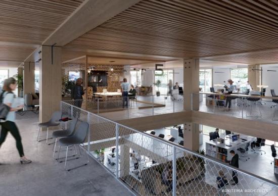Kontorsplatser i nya Trondheim Stasjon. (Bilden är en illustration)