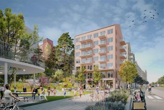 Bonava vinner markanvisning i Husby(bilden är en illustration).