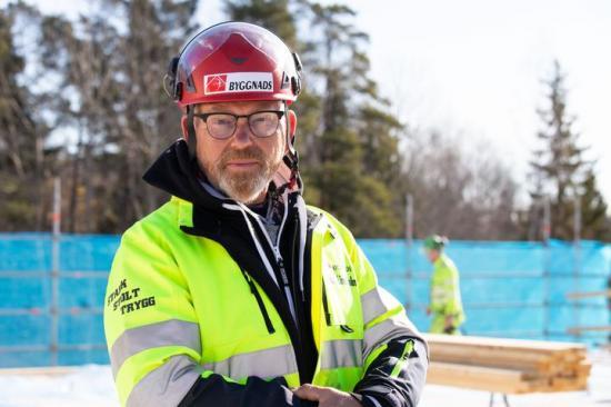Johan Lindholm. förbundsordförande Byggnads.