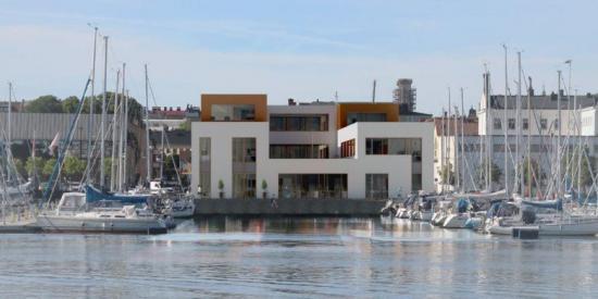 Visionbild över fastigheten som ska uppföras vid Skeppsbron 4 i Karlskrona (bilden är en illustration).