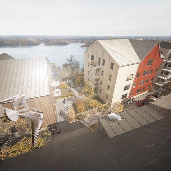 Visionsbild över Norrberget i Vaxholm (bilden är en illustration).