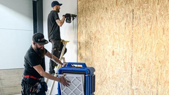 HEATAB sköter inomhusmiljön på byggarbetsplatsen.