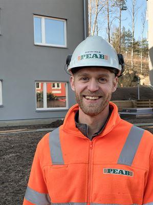 Gustav Holm, platschef på Peab i Göteborg.