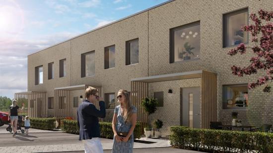 Lyckos utvecklar nya bostäder i Häljarp i samarbete med HSB Landskrona (bilden är en illustration).