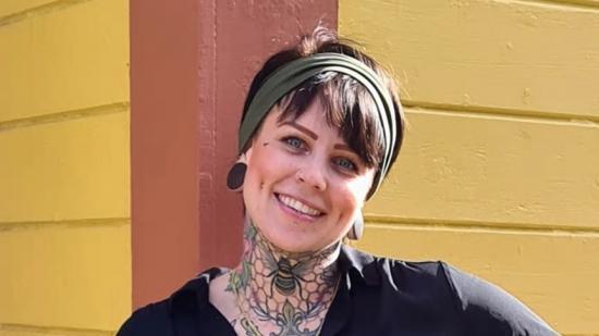 Emmalena Andersson, som tilldelats utmärkelsen Årets Byggkvinna.