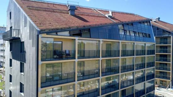 Stockholms första plusenergihus harhållbara kranar från Mora Armatur.
