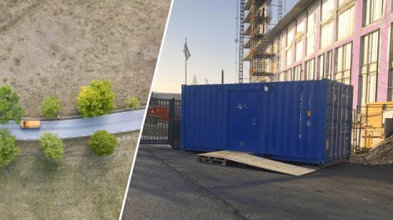Best Transport har nu genomfört sina första leveranser till Qlocx-containrar på byggarbetsplatser.