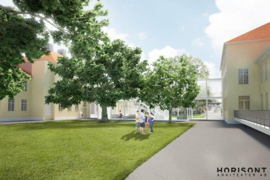 Skiss av hur nya Campus Vipan kan komma att se ut.
