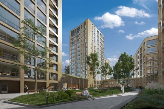Drygt 500 bostäder planeras byggas i området som beräknas vara färdigställt 2025 (bilden är en illustration).