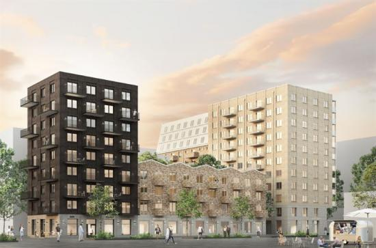 Byggnationen av Wallenstams 10 000:e lägenhet sedan millennieskiftet har startat genom projektet Kompositören i Rosendal, Uppsala (bilden är en illustration).