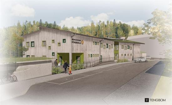 Rödklöverns förskola i Karlstad beräknas vara klar våren 2021.