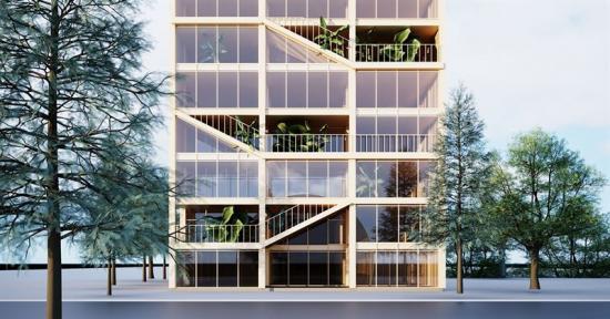 Den vinnande konstruktionslösningen Sked av Kate Rybenchuk.