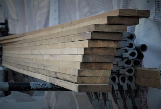 Byggmaterialvärdet visar tillväxt under första kvartalet.