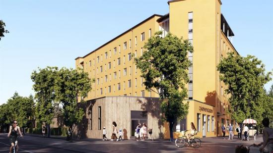 Cykelverkstaden gatuvy Brunnberg Forshed