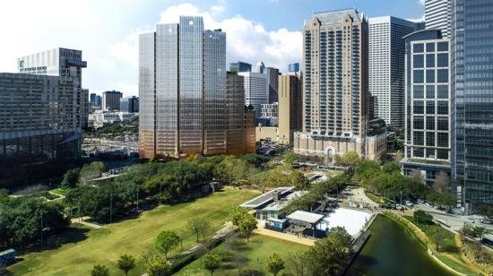 28 våningar högtkommerkontorsprojekt i centrala Houston bli när det är färdigt (bilden är en illustration).