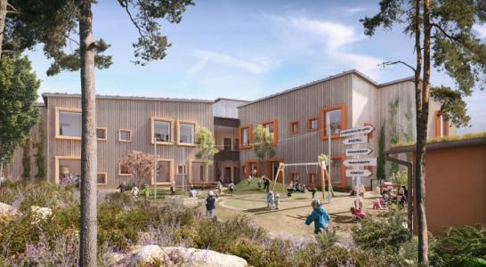 Förskolan Hoppet, gestaltad av LINK Arkitektur, tar emot pris i WAN Awards 2020 (bilden är en illustration).