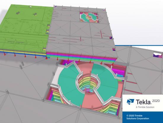 Tekla Structures 2020 Sloping slabs.