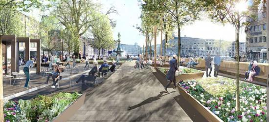 Nu ska Brunnsparken rustas upp med målet att skapa ett tryggt och välkomnande park- och hållplatsrum.
