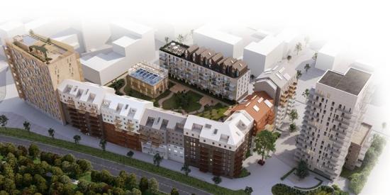 Junior Living förvärvar byggrätten till nytt landmärke i Västerås. Huset, som syns till höger på bilden, är ett 16 våningar högt bostadshus som kommer att bidra till utvecklingen av Västerås Mälarstad.
