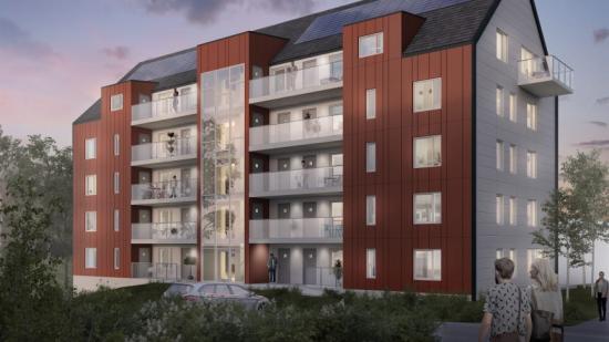 Visionsbild av Järngrindens projekt Enedalshöjden i Borås (bilden är en illustration).