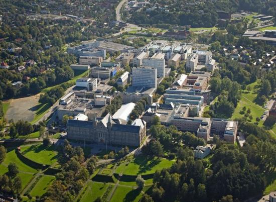 NTNU Campus Gløshaugen.