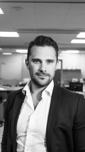 Anton Bergkvist, ansvarig för affärsområdet vårdbostäder hos Sehlhall Fastigheter.