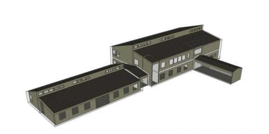 Skiss över hur den nya skolbyggnaden kommer se ut.