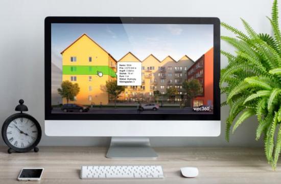 wec360°:s lägenhetsväljare för Riksbyggens projekt Brf Skogsfalken i Uppsala.