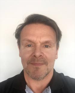 Mikael Häggström, platschef för Bygmas anläggning i Umeå.