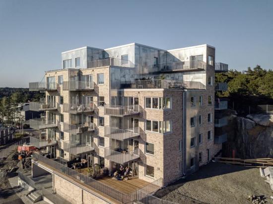 Hovås Hills, Nya Hovås, Göteborg, Fasadmaterial: Galvaniserat stål, Arkitektbyrå: Dreem Arkitekter, Byggherre: Sverigeshuset.