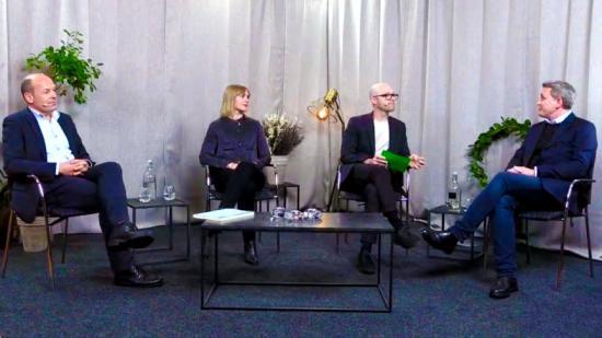 Bild från smyglanseringen av AMA Funktion, med Jan-Olof Edgar, Johanna Brolin, Viktor Ginner och Andreas Persson.
