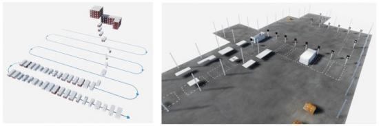 Med teknik från dataspelsvärlden går det att tydliggöra processen hur ett flerbostadshus växer fram modul för modul.