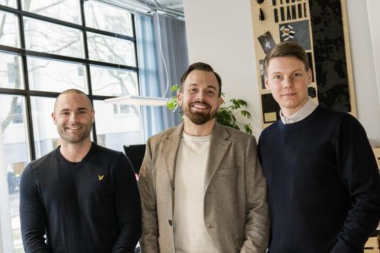 Team Stockholm, från vänster: Niklas Alterlund, Jonny Sylvén och nyanställda Robert Cedstam.