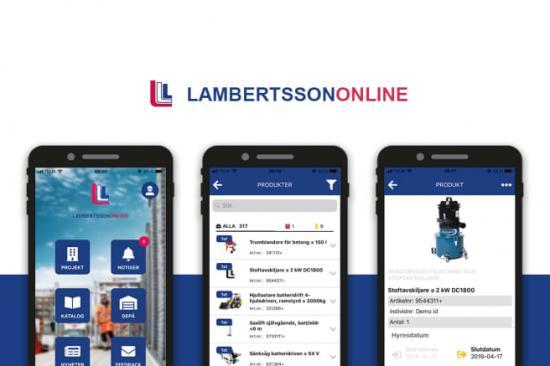 LambertssonOnline, en digitaltjänst från Lambertsson.