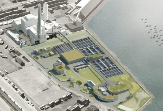 Så här planeras Öresundsverket se ut efter övertäckningen.