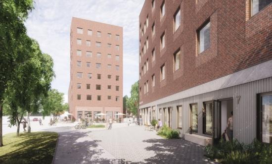 Cassiopeia, planerade studentbostäder i Lund (bilden är en illustration).