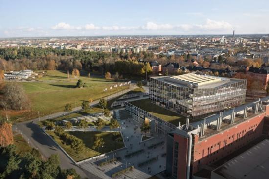 Översiktsbild tillbyggnad Ångströmlaboratoriet, Uppsala.