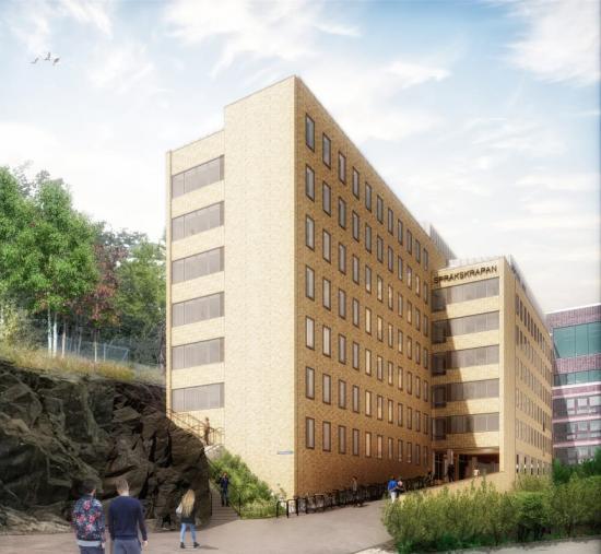 Studentbostäder Språkskrapan, Göteborg(bilden är en illustration).
